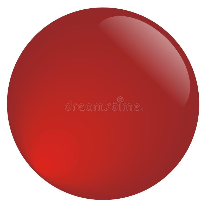 凉快的红色网按钮 皇族释放例证