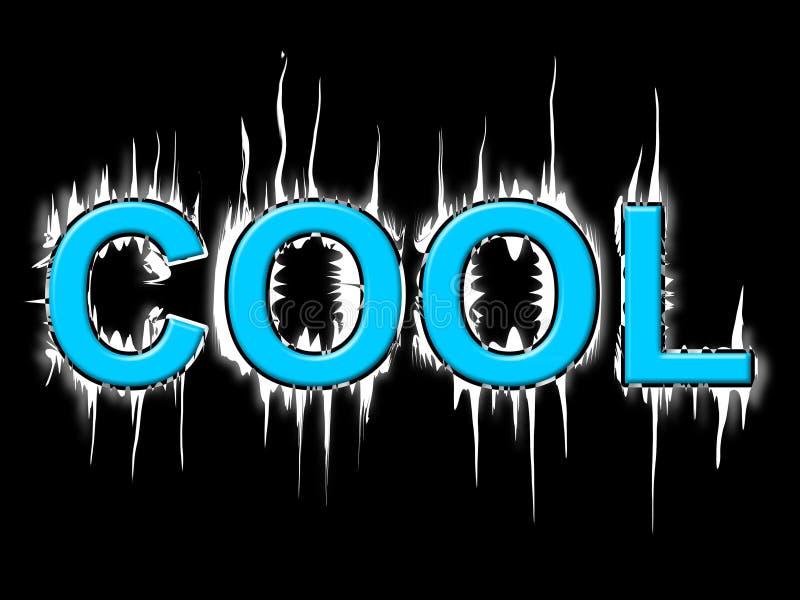 凉快的词意味寒冷弗罗斯特和冷淡 库存例证
