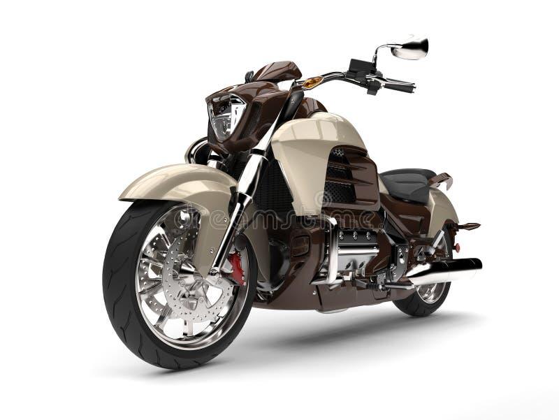 凉快的金属巧克力现代强有力的砍刀自行车 库存例证