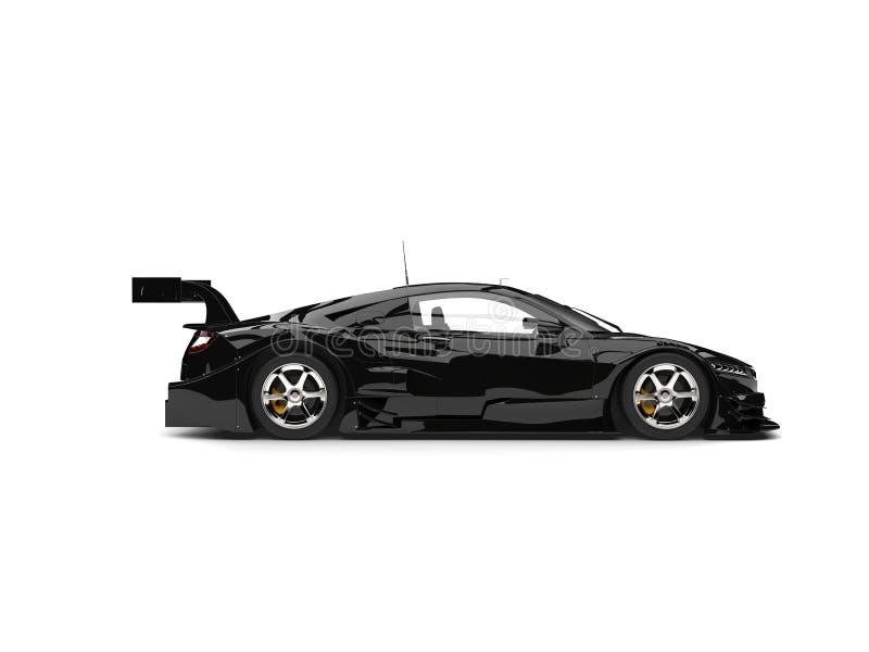 凉快的黑体育超级车的侧视图 库存例证
