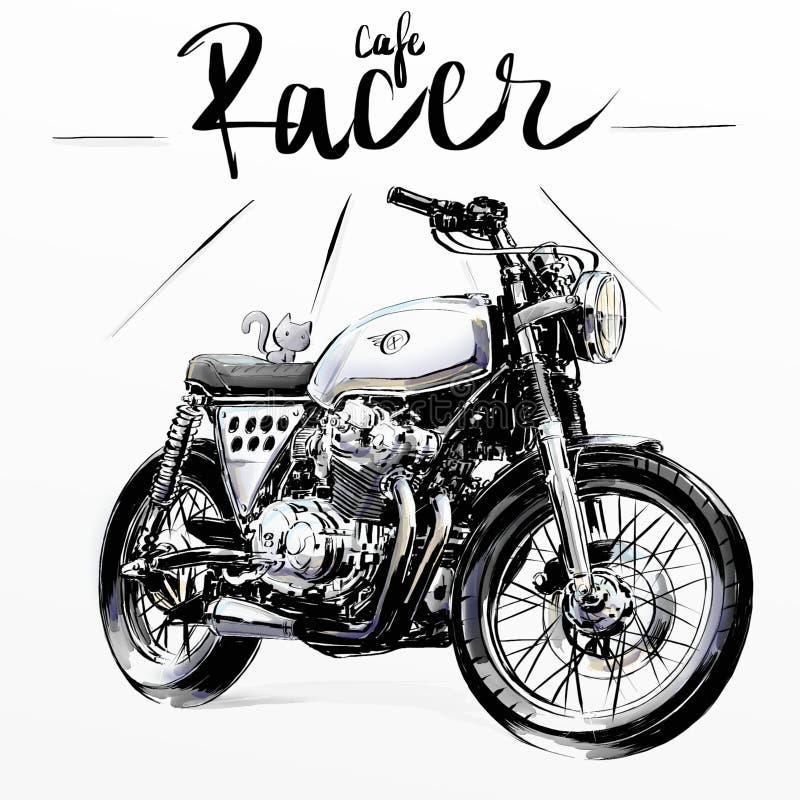 凉快的经典摩托车 免版税库存图片