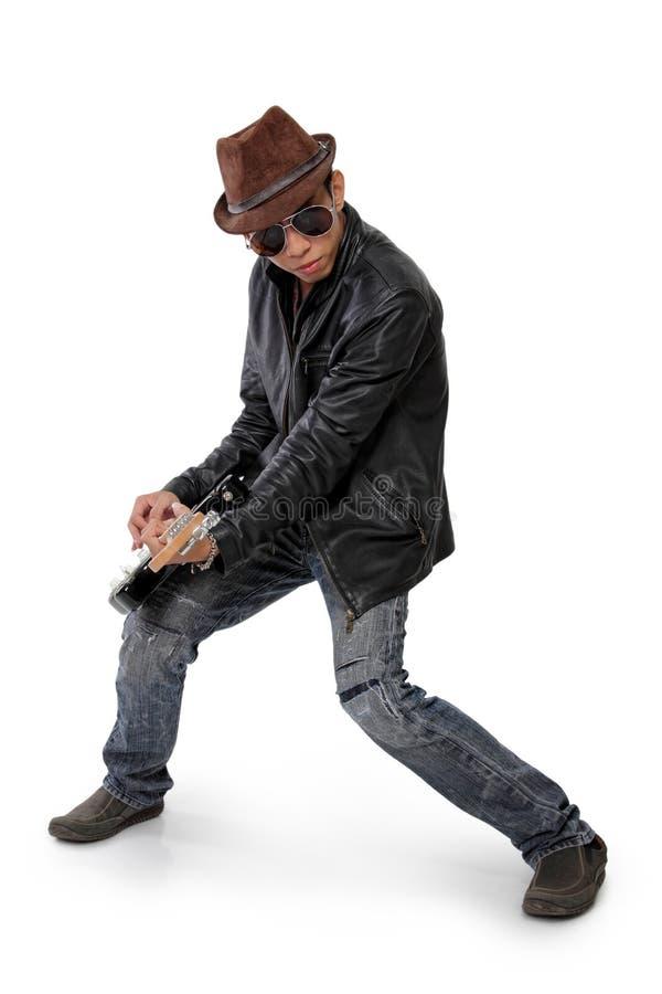 凉快的bluesman 免版税库存照片