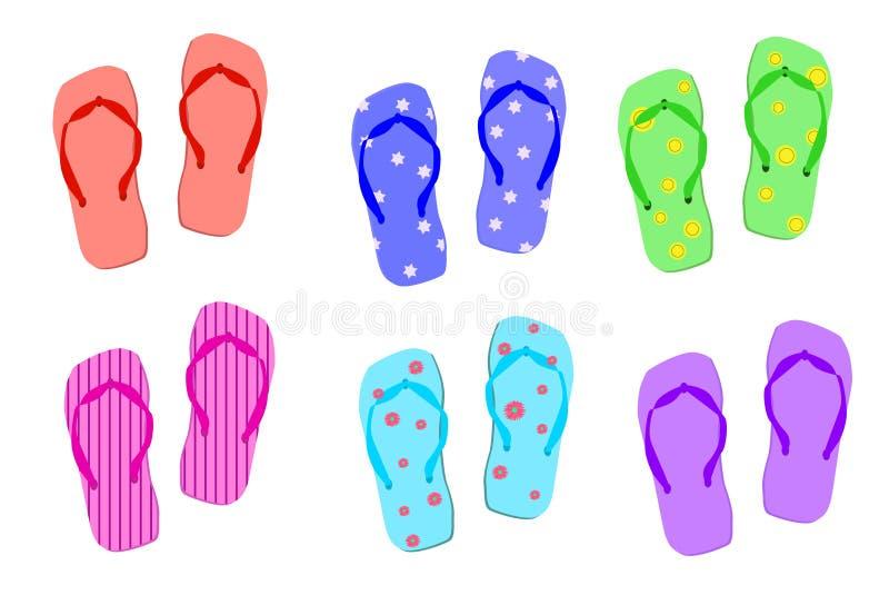 凉鞋夏天 向量例证