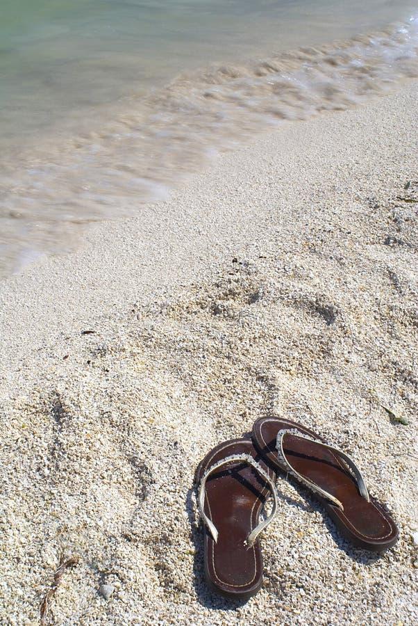 凉鞋海岸线 库存图片