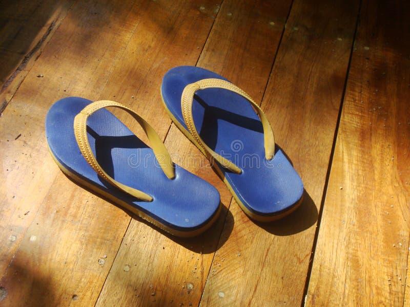 凉鞋海滩鞋子 图库摄影