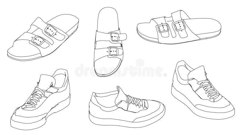 凉鞋鞋子 皇族释放例证