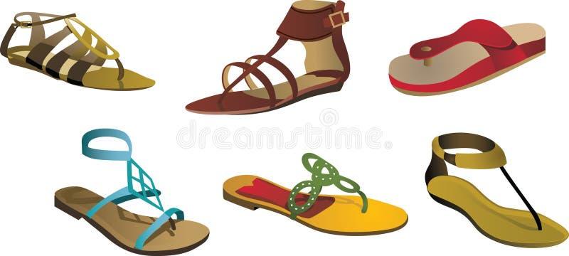凉鞋 向量例证