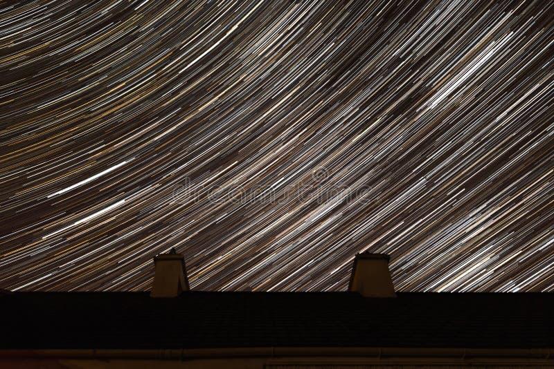 凌乱的繁星之夜 库存照片