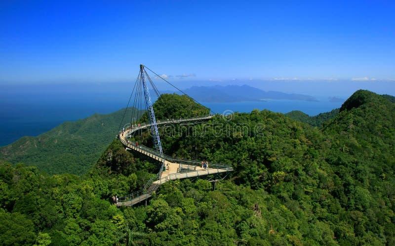 凌家卫岛天空桥梁,凌家卫岛海岛,马来西亚 免版税库存照片