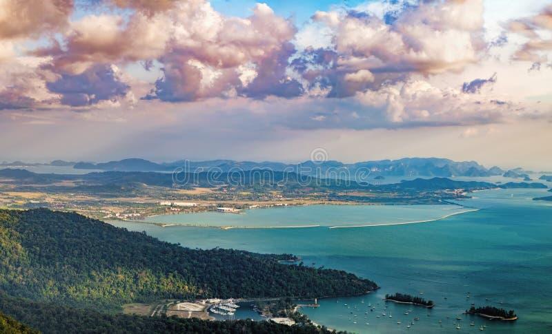 凌家卫岛海岛风景,马来西亚 免版税库存图片