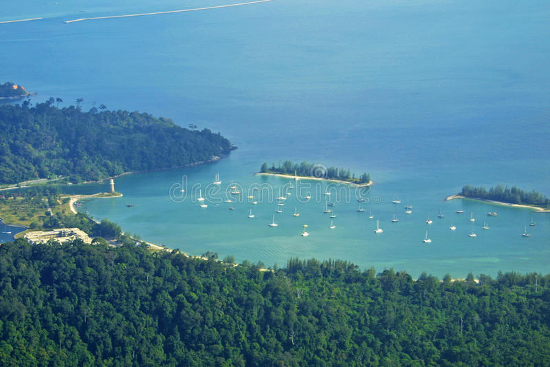 凌家卫岛海岛,马来西亚风景  免版税库存照片