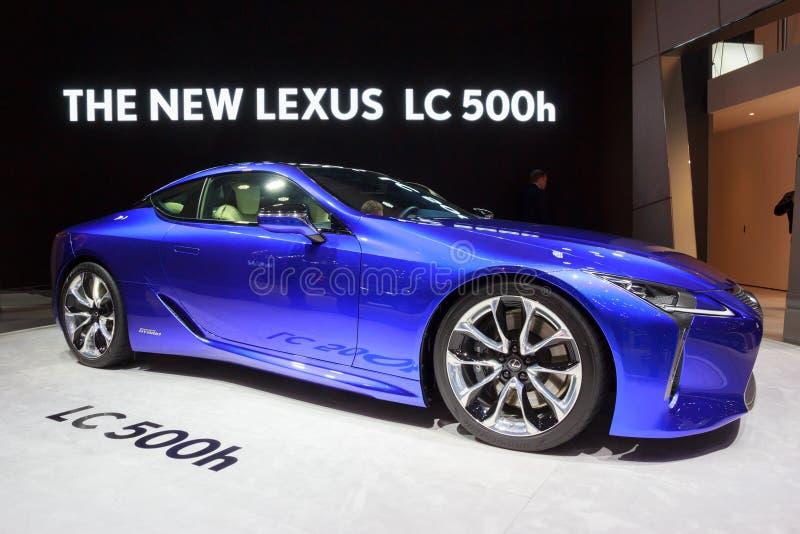 2018年凌志LC 500h汽车 库存照片