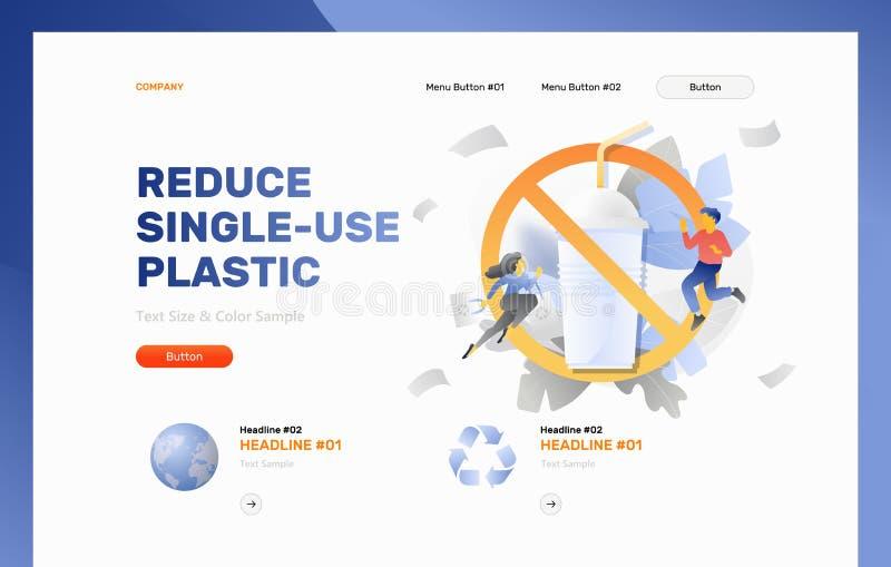 减少单一用处塑料网模板 库存例证