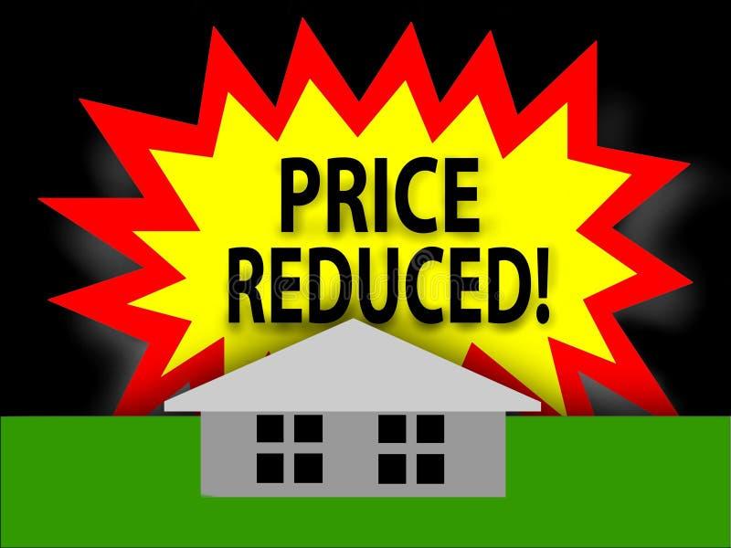 减少的住房价格 库存例证