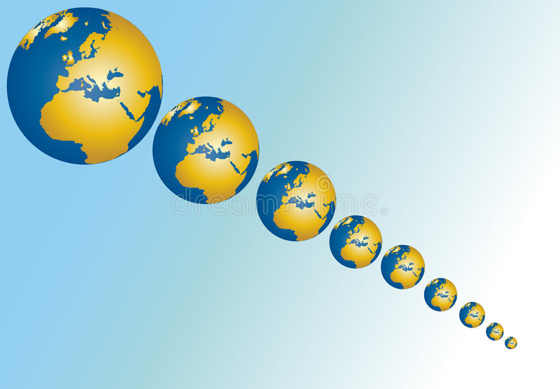 减少的地球 库存例证