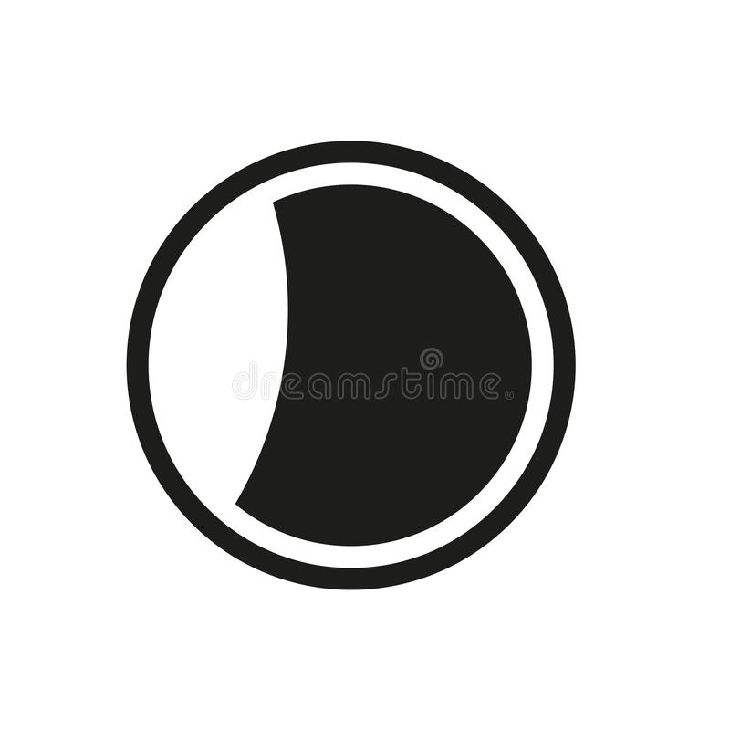 减少的月亮象 在白色backg的时髦减少的月亮商标概念 库存例证
