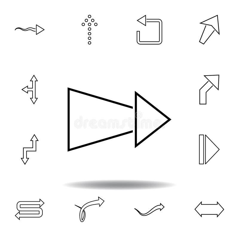 减少的箭头象 稀薄的线为网站设计和发展设置的象,应用程序发展 r 皇族释放例证