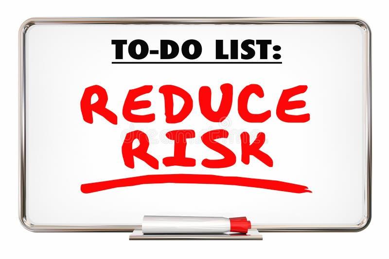 减少风险安全防止损失文字词 皇族释放例证