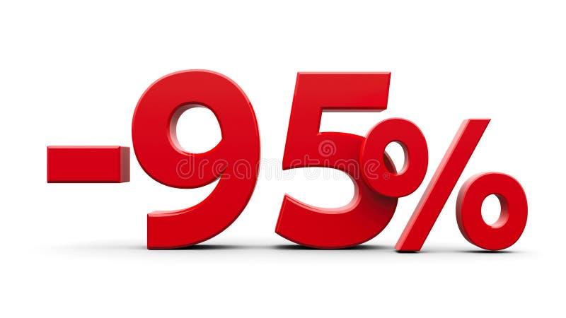 减百分之九十五的红色 皇族释放例证