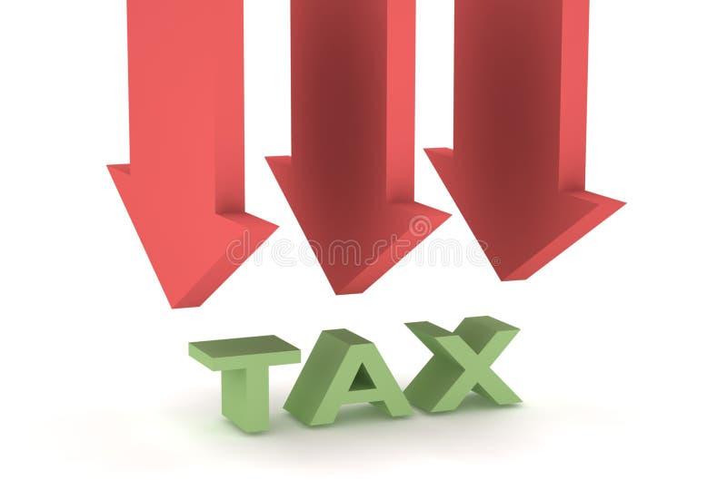 减税 库存例证