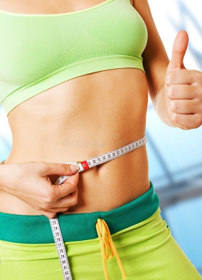 减肥腰部 库存照片