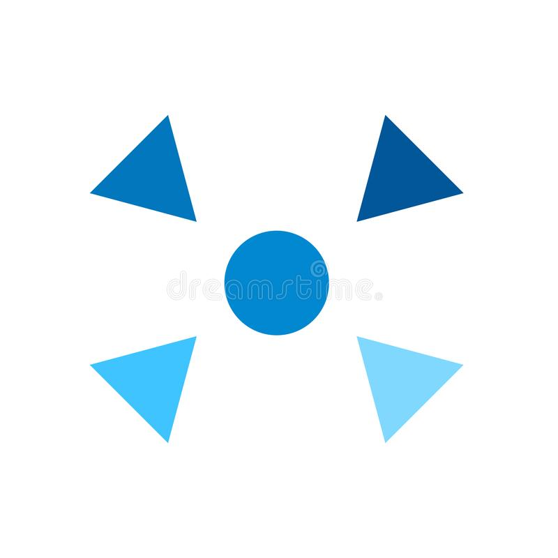 减退象在白色背景和标志隔绝的传染媒介标志,减退商标概念 库存例证
