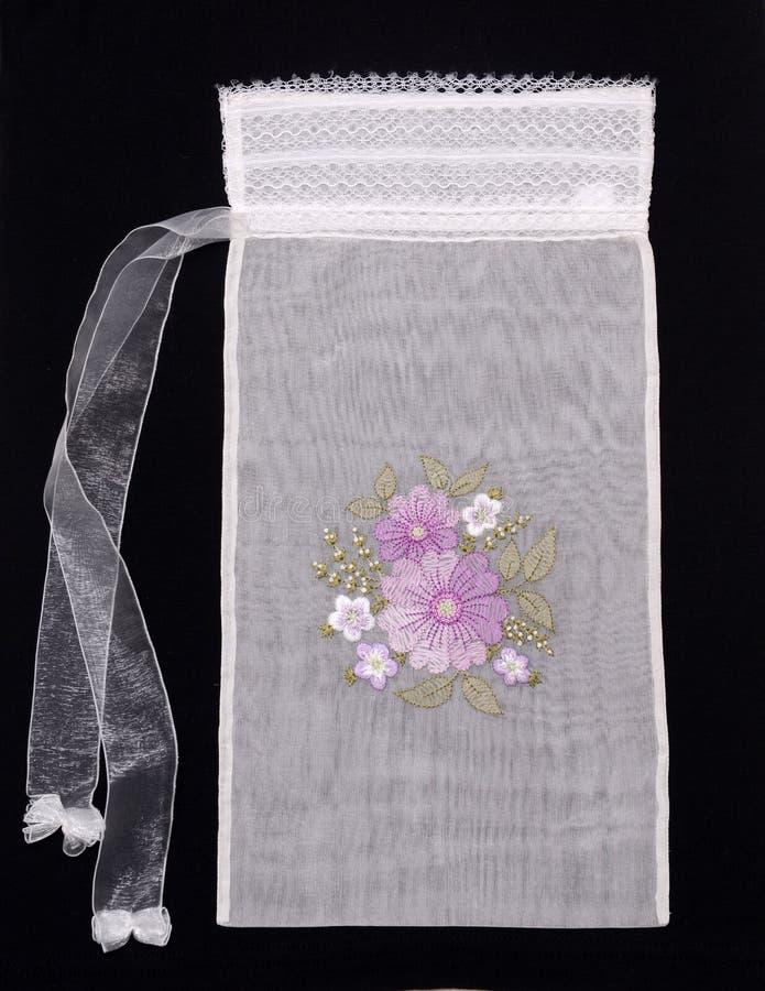 减速火箭刺绣花卉手工制造的模式 图库摄影