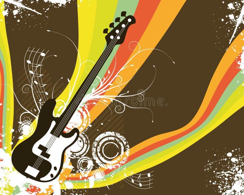 减速火箭吉他的彩虹 库存例证