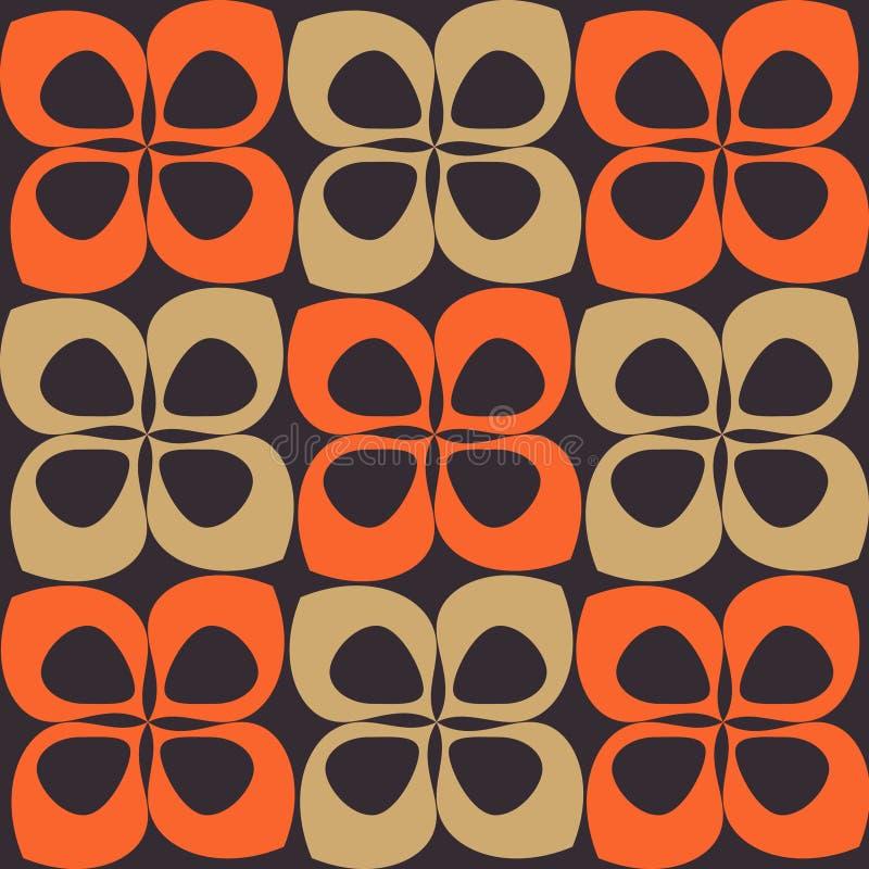 减速火箭棕色橙色的模式 向量例证