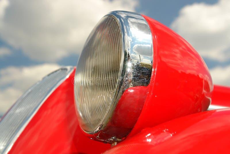 减速火箭汽车的车灯 免版税库存照片