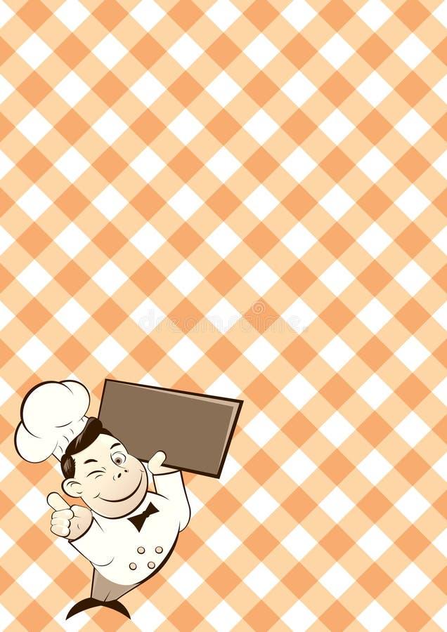 减速火箭漫画人物的主厨 免版税库存图片