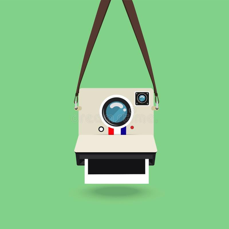 减速火箭照相机的照片 库存例证