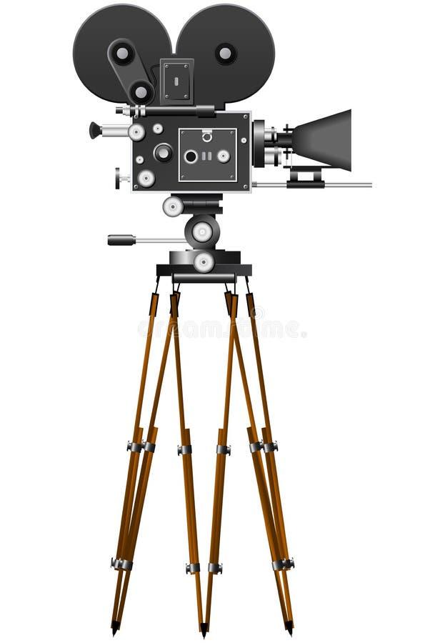 减速火箭照相机的电影 库存例证