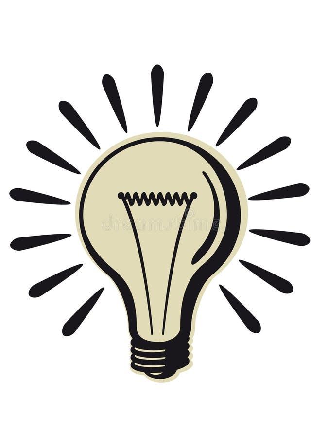 减速火箭电灯泡的光 皇族释放例证