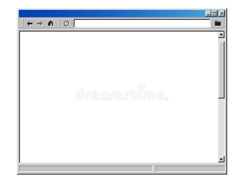 减速火箭的互联网浏览器窗口 皇族释放例证