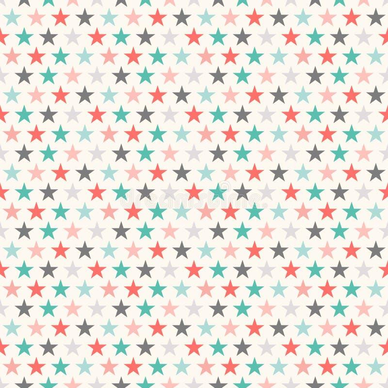 Download 减速火箭的五颜六色的星无缝的样式 例证 库存例证. 插画 包括有 对象, 绘画, 手工制造, 种族, 圣诞节 - 62535604