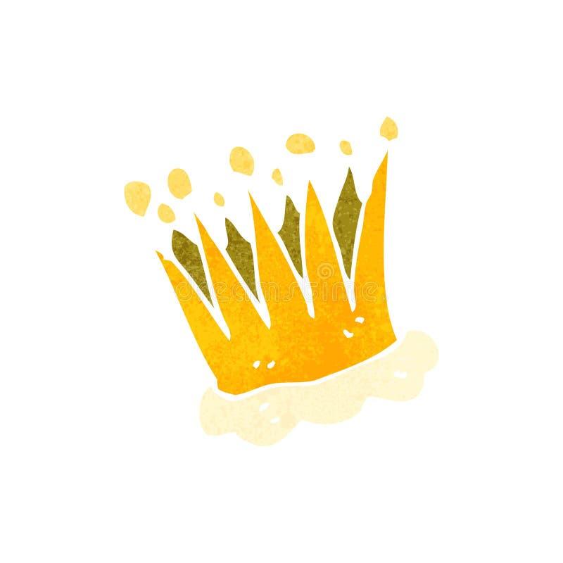 减速火箭的动画片冠 皇族释放例证