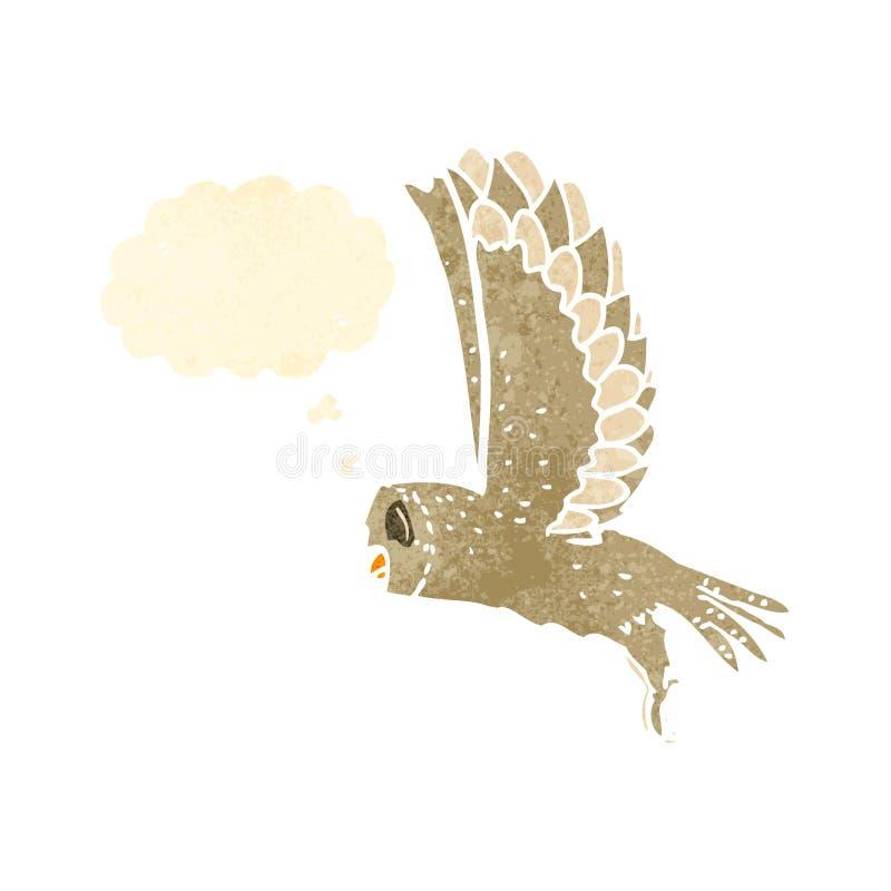 减速火箭的动画片飞行猫头鹰 皇族释放例证