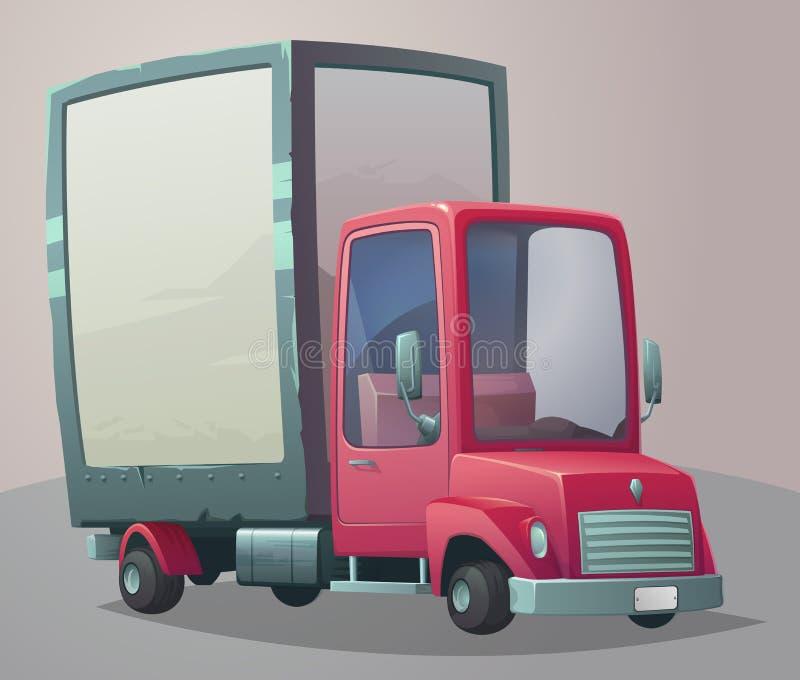 减速火箭的卡车 也corel凹道例证向量 向量例证