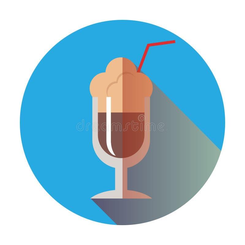 减速火箭的咖啡拿铁象 向量例证