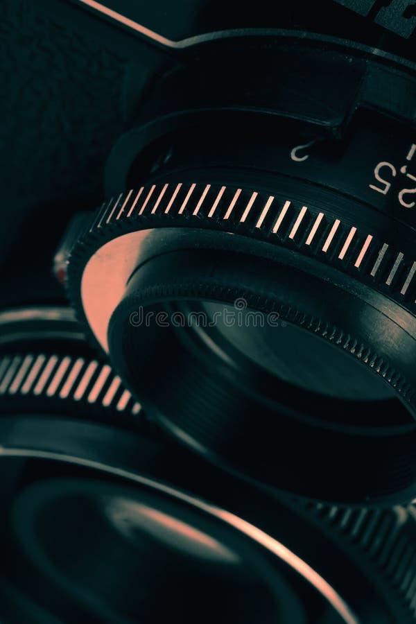 减速火箭的影片摄象机镜头 免版税库存照片