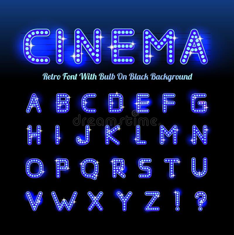 减速火箭的戏院字体 皇族释放例证