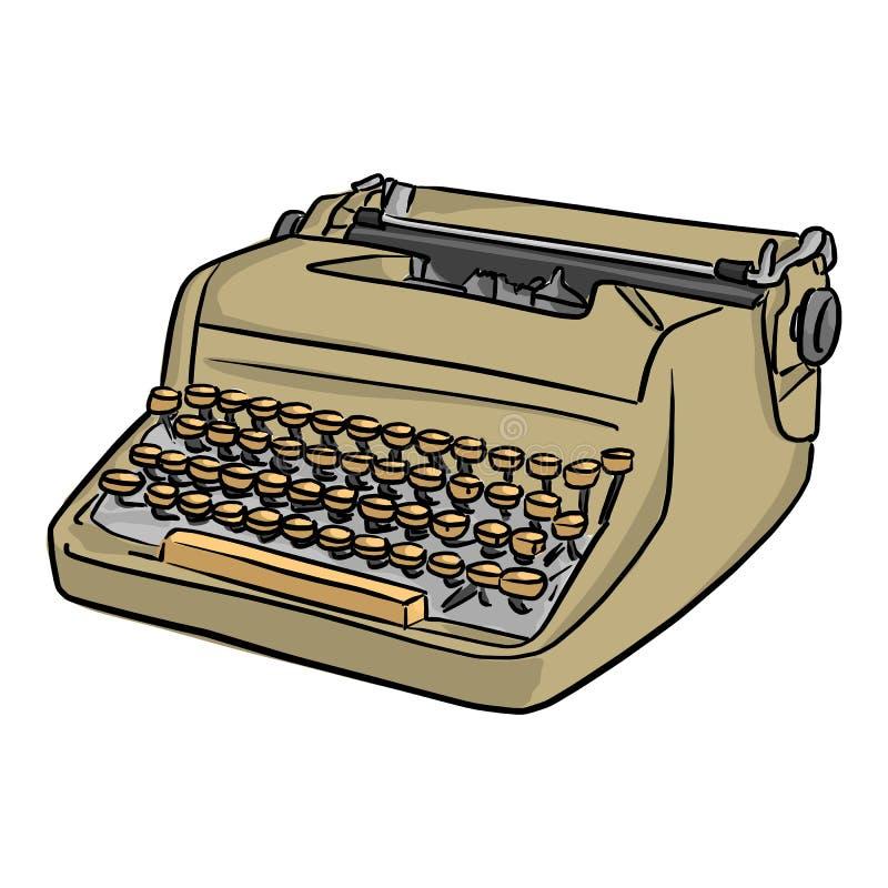 减速火箭的打字机传染媒介例证剪影乱画手拉的wi 向量例证