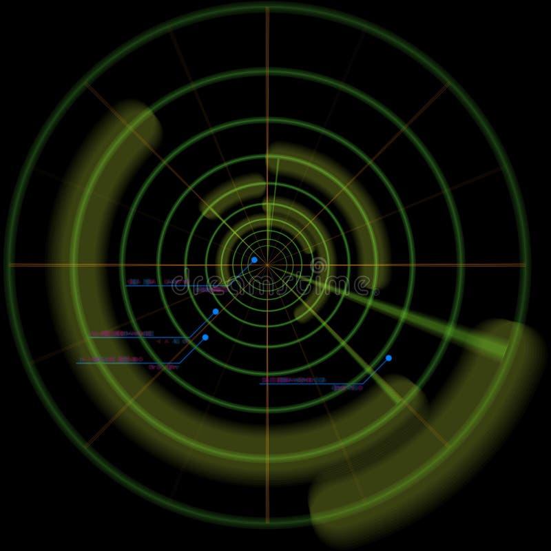 减速火箭的扫描程序屏幕技术 向量例证