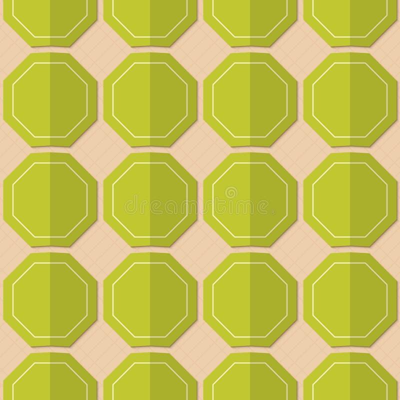 减速火箭的折叠绿色八角形物 向量例证