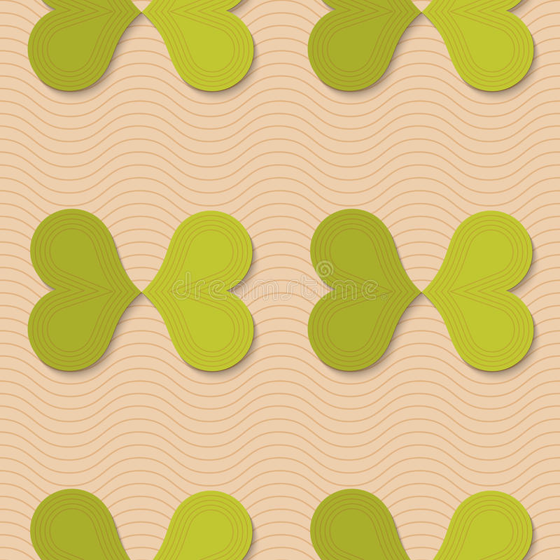 减速火箭的折叠绿色蝴蝶 库存例证