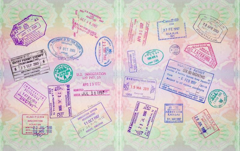 减速火箭的护照邮票 免版税图库摄影