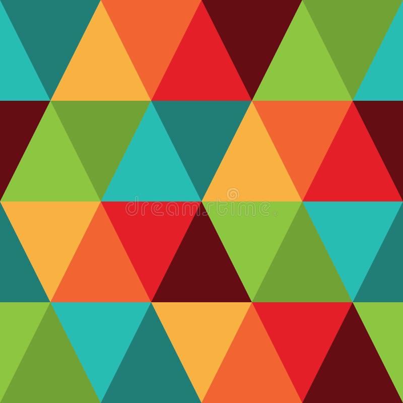 减速火箭的摘要几何无缝的样式,纺织品设计的,织品prin减速火箭的彩虹表面样式背景重复样式 向量例证