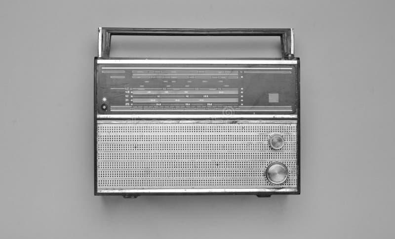 减速火箭的无线电接收机的黑白照片 免版税库存照片