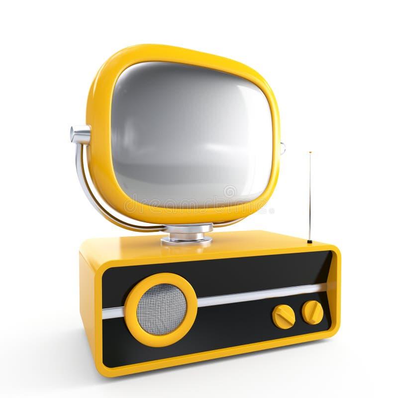 减速火箭的时髦的电视 库存例证
